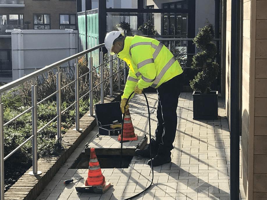 unblocking drains in Birmingham, UK.